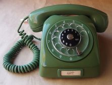 Green Rotary Dial Phone
