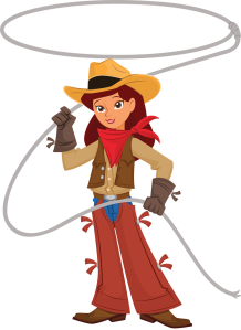 cowgirl with lasso