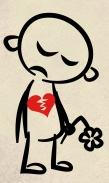 sad with flower